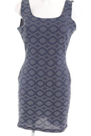 Mango Basics Minikleid dunkelblau-weiß abstraktes Muster Casual-Look