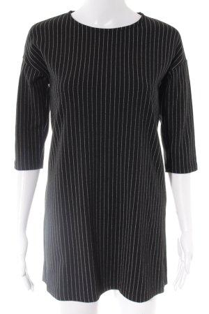 Mango Basics Minikleid schwarz-weiß Streifenmuster Casual-Look