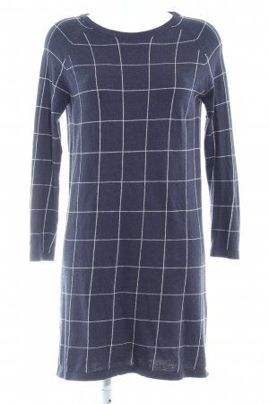 Mango Basics Sweater Dress dark blue check pattern casual look
