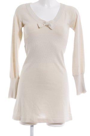 Mango Basics Abito maglione bianco sporco elegante