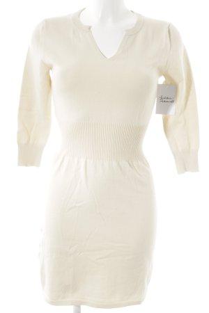 Mango Basics Vestido tipo jersey blanco puro-beige claro look casual