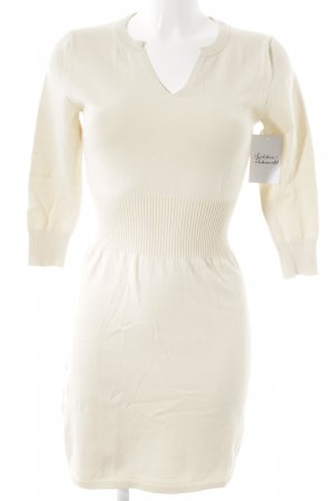 Mango Basics Pulloverkleid wollweiß-hellbeige Casual-Look
