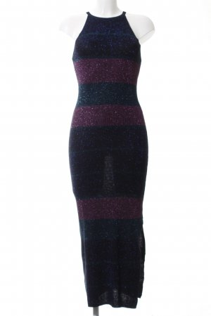 Mango Basics Tube Dress black-pink striped pattern casual look