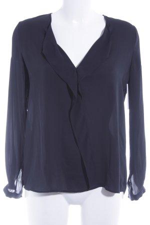 Mango Basics Schlupf-Bluse schwarz Elegant