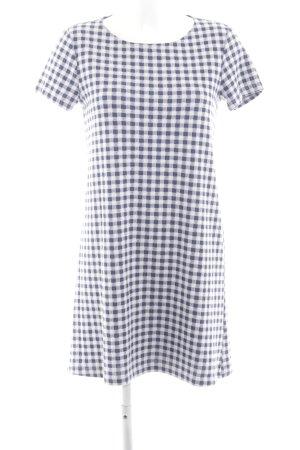 Mango Basics Vestido estilo camisa azul-blanco estampado a cuadros look casual