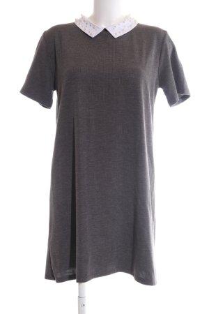 Mango Basics Shirtkleid hellgrau meliert Business-Look