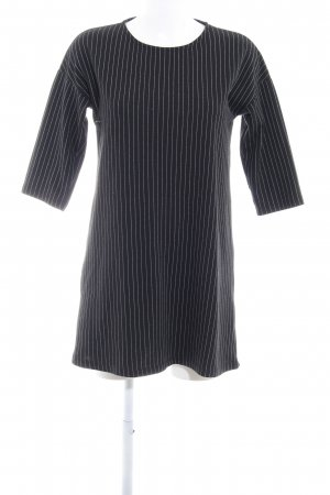 Mango Basics Shirtkleid schwarz-weiß Nadelstreifen klassischer Stil