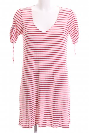 Mango Basics Shirtkleid weiß-rot Allover-Druck Casual-Look