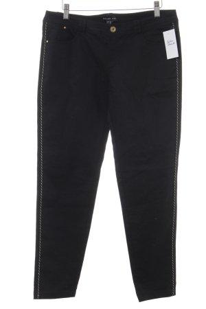 Mango Basics Skinny Jeans schwarz-goldfarben Casual-Look