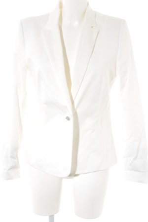 Mango Basics Blazer de esmoquin blanco estilo «business»