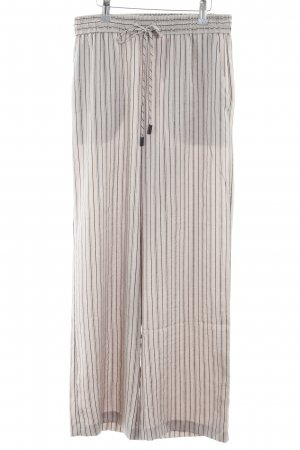 Mango Basics Jersey Pants grey brown-black striped pattern casual look