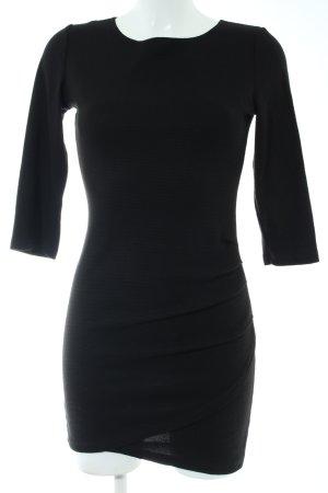 Mango Basics Vestido elástico negro estilo «business»