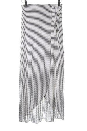 Mango Basics Stretchrock schwarz-weiß Allover-Druck Casual-Look