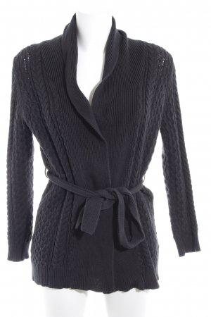 Mango Basics Strick Cardigan anthrazit Zopfmuster Casual-Look
