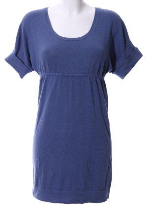 Mango Basics Gebreide jurk blauw casual uitstraling