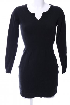 Mango Basics Strickkleid schwarz Business-Look
