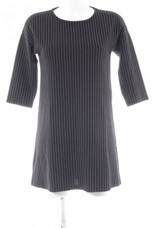 Mango Basics Abito di maglia nero-bianco gessato stile casual