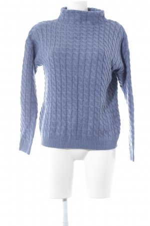 Mango Basics Strickpullover blau Zopfmuster Casual-Look