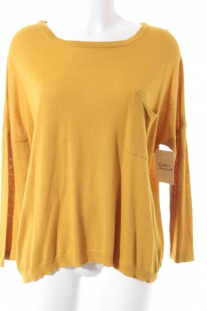 Mango Basics Strickpullover gelb Casual-Look
