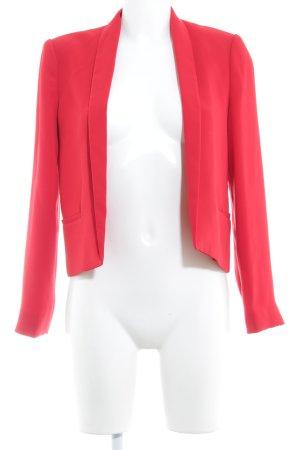 Mango Basics Blazer de tela de sudadera rojo elegante
