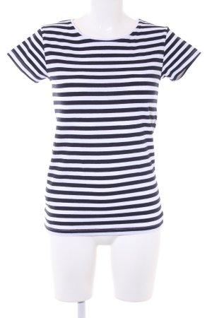 Mango Basics T-Shirt schwarz-weiß Streifenmuster Casual-Look