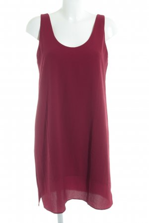 Mango Basics Pinafore dress dark red simple style