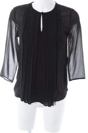 Mango Basics Transparenz-Bluse schwarz Elegant