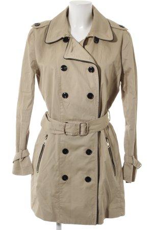 Mango Basics Trenchcoat schwarz-beige Casual-Look