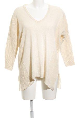 Mango Basics V-Ausschnitt-Pullover creme Casual-Look