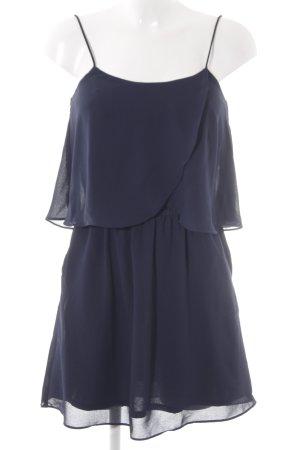 Mango Basics Vestido estilo flounce azul-azul oscuro look casual