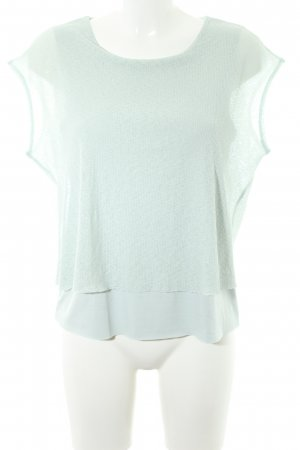 Mango Basics Cowl-Neck Shirt pale blue casual look