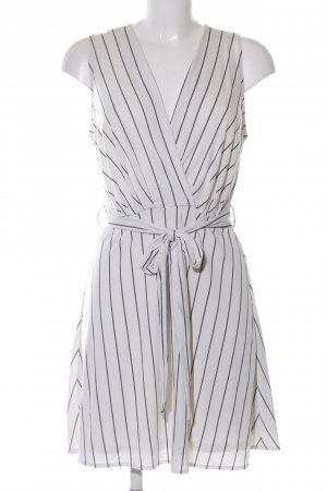 Mango Basics Robe portefeuille gris clair-noir motif rayé style d'affaires