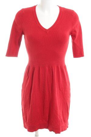 Mango Basics Vestido de lana rojo look casual