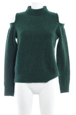Mango Basics Wollpullover waldgrün Casual-Look