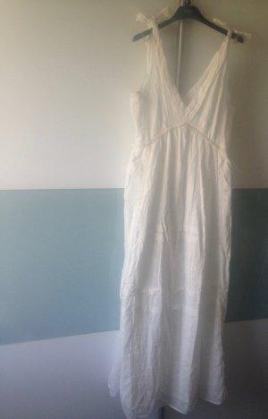 Mango Baumwolle Maxi Kleid Elsa weiss