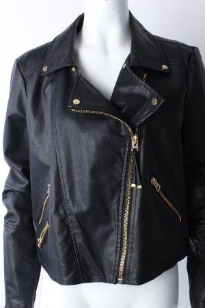 Mango Biker Jacket black
