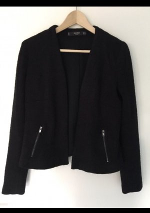 Mango Knitted Blazer black-silver-colored