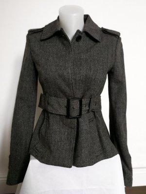 Mango Blazer Jacke mit Schulterriegeln (Gr. 36)