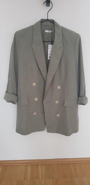 MANGO Blazer M aus Modal helles Khaki/mint grün NEU