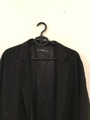 Mango Lange blazer zwart