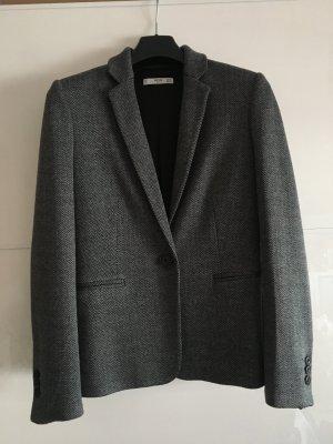 Mango Blazer Tweed in Schwarz-Beige