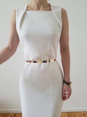 Mango Bleistiftkleid Mini Kleid XXS XS 32 34 weiß Etuikleid Cocktailkleid Top