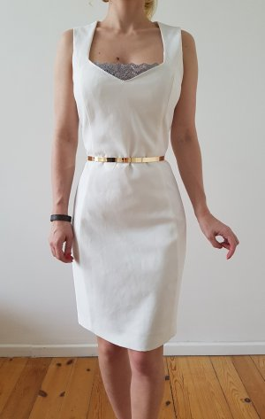 Mango Bleistiftkleid Mini Kleid XXS XS 34 36 weiß Etuikleid Cocktailkleid Top