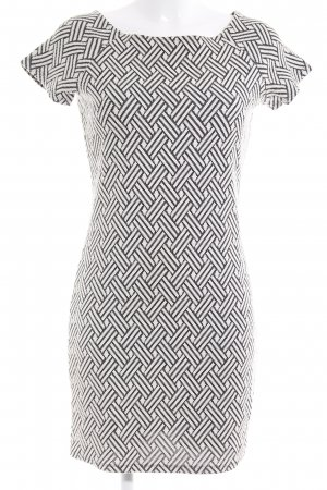 Mango Robe crayon noir-blanc cassé motif graphique style décontracté