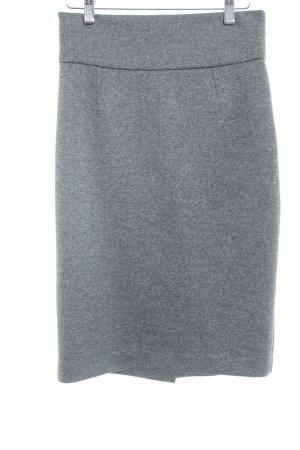 Mango Falda de tubo gris elegante