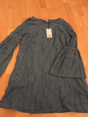 Mango Blogger Kleid, Jeanskleid mit weiten Ärmeln von Mango