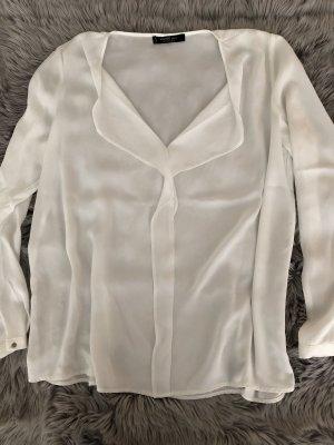 Mango Blusa de manga larga blanco