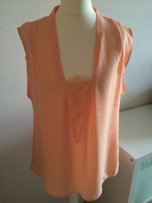 Mango Bluse Gr. 38 M NEU lachs koralle peach Shirt Top