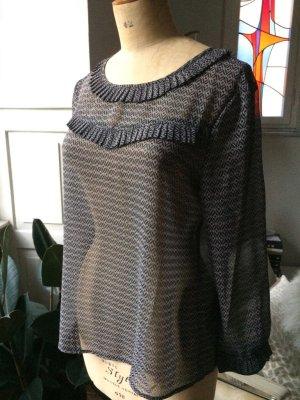 Mango - Bluse, Gr. M, 1 x getragen - schöne Details