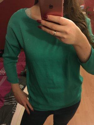 Mango Bluse grün S 36 Suit 3/4 ärmlig Shirt Oversize